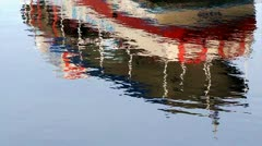 Boat reflection - stock footage