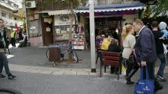 Nachlat Binyamin Pedestrian Mall, Tel Aviv, Israel Stock Footage