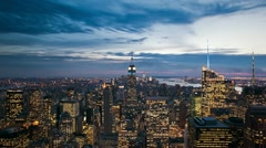 NYC day to night timelapse Stock Footage