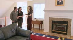 Realtor shows home (3 of 5) - stock footage