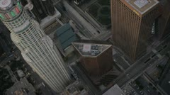Aerial view of US Bank Tower  Los Angeles, USA Stock Footage