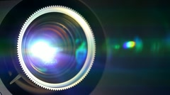 Digital film projector lens Stock Footage
