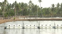 Locally made water turbines for agriculture Stock Footage