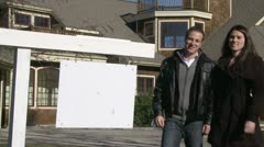 Real Estate Sign - stock footage
