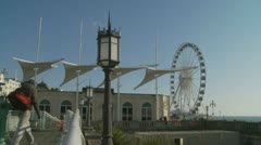 Big wheel attraction, Brighton's eye  (one) Stock Footage