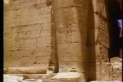 The Valley of the Kings, The Ramasseum Temple 108138 Stock Footage