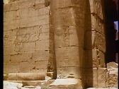 Stock Video Footage of The Valley of the Kings, The Ramasseum Temple 108138
