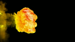 Yellow bomb explosion with alpha channel Stock Footage