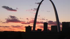 Gateway to the west St Louis Arch - stock footage