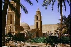 The Wadi Naturim Coptic Monastery. A Coptic Christian Church 108170 - stock footage