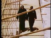 The Wadi Naturim Coptic Monastery, In Egypt, Two Coptic Christian monks 108165 Stock Footage