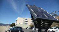 Stock Video Footage of Solar panel for parking ticket booth - Santa Monica beach