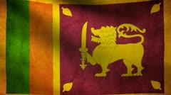 Sri lanka flag. Stock Footage