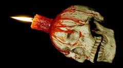 Candle Skull Loop Alpha (HD) - stock footage