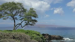 Kahoolawe, Hawaii from South Maui - stock footage