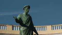 Monument to Duke de Richelieu Stock Footage