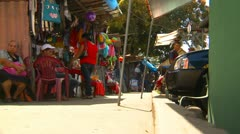Stock Video Footage of Conception, Panama, people and shops