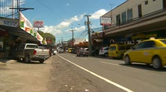 Stock Video Footage of Conception, Panama, traffic and shops