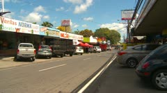 Stock Video Footage of Conception, Panama, cars and shops