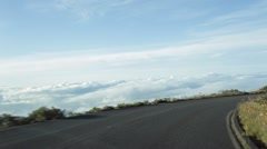 Driving down Haleakala timelapse, Maui, Hawaii - stock footage