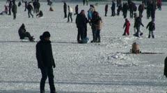 Ice-Skating 20120205 122044 Stock Footage