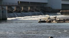 Close up of Dam with Rocks - stock footage