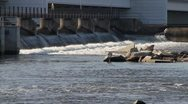 Close up of Dam with Rocks Stock Footage