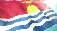 3d flag Kiribati Stock Footage