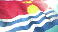 Stock Video Footage of 3d flag Kiribati