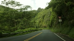 Traveling Hana Highway, Maui, Hawaii - stock footage