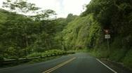 Stock Video Footage of Traveling Hana Highway, Maui, Hawaii