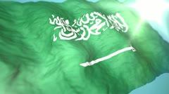 3d flag Saudi Arabia Stock Footage