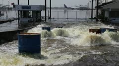 Don Mueang Floods file 0372 Stock Footage
