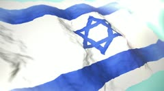 3d flag Israel Stock Footage
