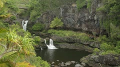 Oheo Gulch waterfalls (Seven Sacred Pools), Maui, Hawaii Stock Footage