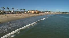 Santa Cruz beach 01 HD Stock Footage