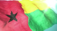 Stock Video Footage of 3d flag Guinea-Bissau