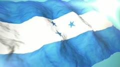 3d flag Honduras Stock Footage