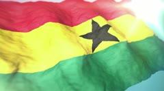 3d flag Ghana Stock Footage