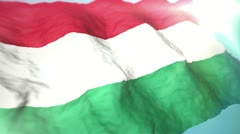 3d flag Hungary Stock Footage