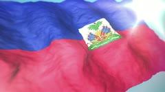 3d flag Haiti Stock Footage