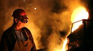 Smoky and Hard working Environment Stock Footage