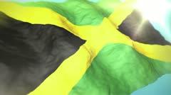 3d flag Jamaica Stock Footage