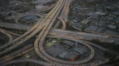 Aerial view of elevated traffic flow, USA Stock Footage