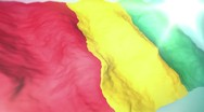 Stock Video Footage of 3d flag Guinea
