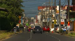 David Panama street life and traffic Stock Footage