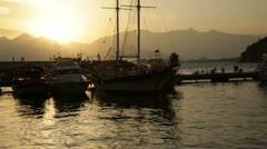 Marina Sunset Stock Footage