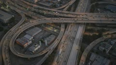 Aerial view of congested intersection, USA Stock Footage
