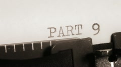 PART 9 to 10. Typewriting. Section of the book.  Stock Footage