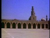 Stock Video Footage of Mosques of Cairo, Ib Tulan, wide shot, pan right, no people